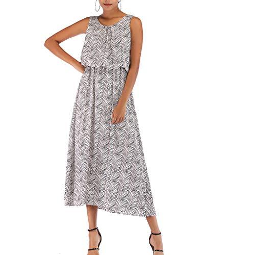 Lange Karriere Rock (Chejarity Sexy, schlankes Damenkleid, Fünf-Punkt-Ärmel und Rundhalsausschnitt - Damen Sommerkleid - Damenkleid Langes Kleid - Elegantes Kleid)