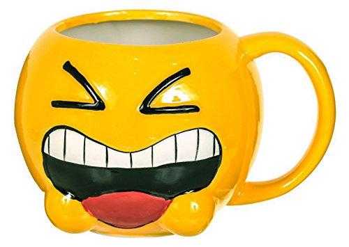 Funny Emoji Yellow Drinking Ceramic Tea / Coffee Mug Milk Drinkware Mugs  Ceramic Emoji Large 3D Mug – 1pc