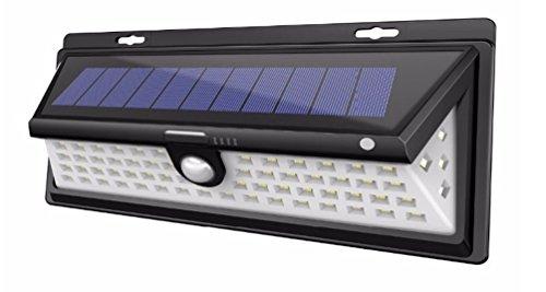 Solarleuchten Im Freien, 54 LED Wireless Weitwinkel Bewegungssensor Lichter, Super Brightsecurity Wasserdichte Wandleuchten Für Garage Patio Garden Driveway Yard,90LED