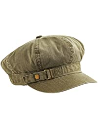 37a192c3005 MG Unisex Pigment Dyed Special Cotton Washed Newsboy Cap-2126-OLIVE