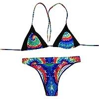 LILICAT!!! Costura Colorida impresión Sexy Bikini Traje de baño de Dos Piezas Mujer Estampado de Bikini con Estampado Push-Up Traje de baño brasileño Ropa de Playa Traje de baño