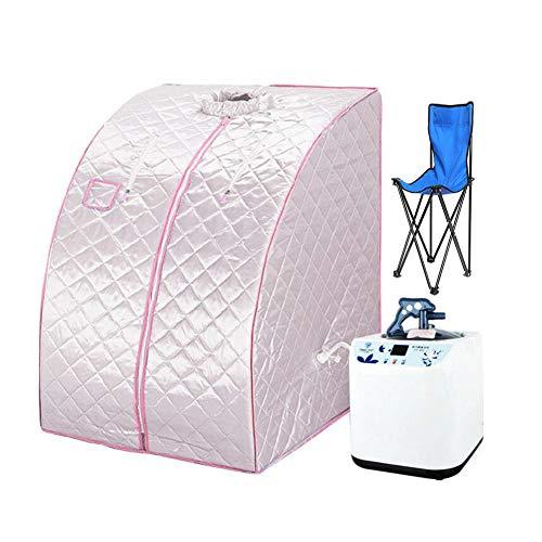 Hixgb stanza portatile di sauna del vapore, tenda di sauna di perdita di peso piegante della famiglia della disintossicazione con la sedia, ruota di massaggio del piede, stuoia antiscivolo,d