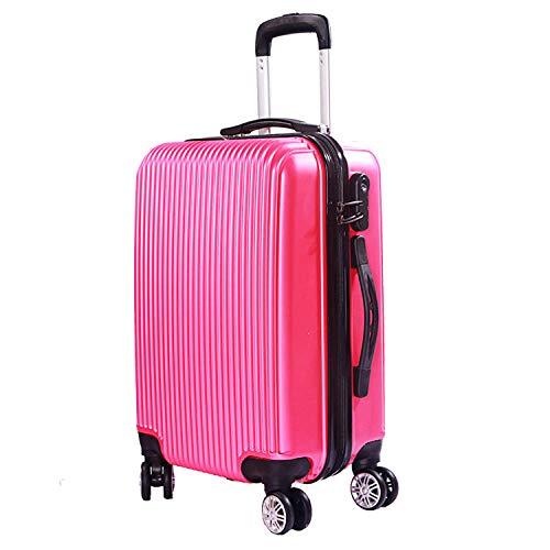 Bordkoffer, Passwortbox, Universal-Trolley case Glossy - Rose red_24 inch - Glossy Rose