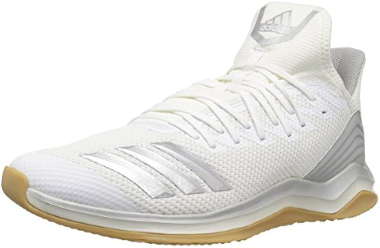 Adidas Men's Icon Icon Icon 4 Baseball scarpe argento Metallic Cloud bianca, 13.5 M US | Produzione qualificata  a88791
