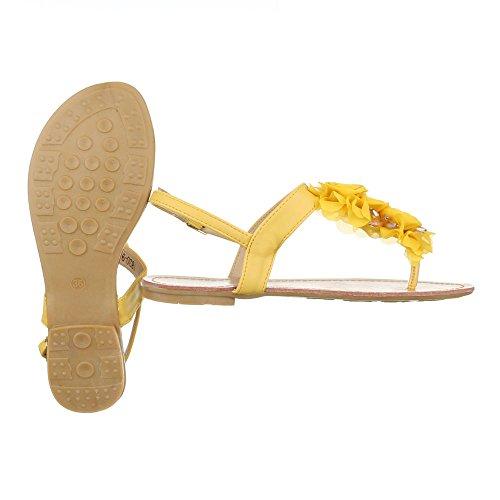 Ital-Design , Sandales pour femme Jaune