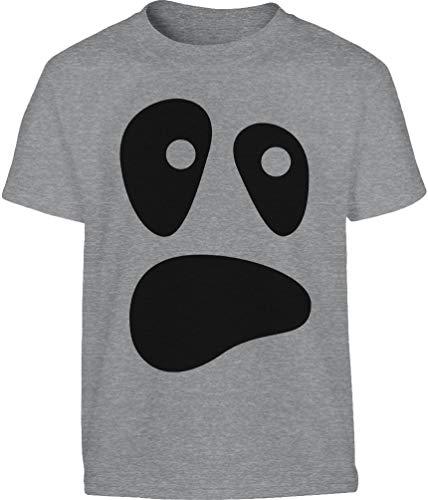 Witzige Ghoul Face Kinder Halloween Ghost Kostüme Kinder T-Shirt 11-12 Jahre (152cm) Grau