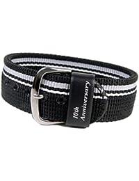 Casio Ersatzband Uhrenarmband Textil Band Durchzugsband schwarz für BG-1004AN-1ER BG-1004