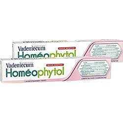 Vademecum - Dentifrice - Homéophytol - Tube 75 ml - Lot de 2