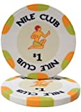 25 $ 1 Chip di poker di qualit¨¤ del casin¨° in ceramica da 10 grammi del Nilo Club