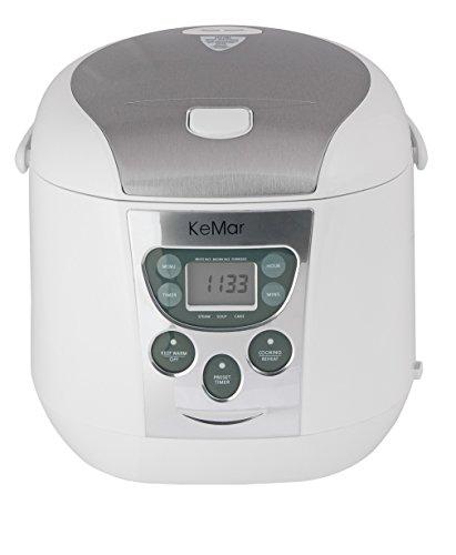 KeMar Kitchenware KRC-140 Multikocher, Edelstahl Dämpfeinsatz, 790W, 1,8 Liter