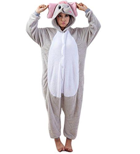 Imagen de lihao pijama disfraz de gris elefante para adulto unisex, cosplay, carnaval talla l