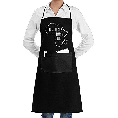 Japanische Adult Kostüm Dame - Drempad Schürzen/Kochschürze, I Bless The Rains Down in Africa Adjustable Cooking Kitchen Aprons with Front Pocket for Adult Unisex
