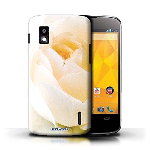 Kobalt® Imprimé Etui / Coque pour LG Nexus 4/E960 / jonquille conception / Série floral Fleurs Doux Rose