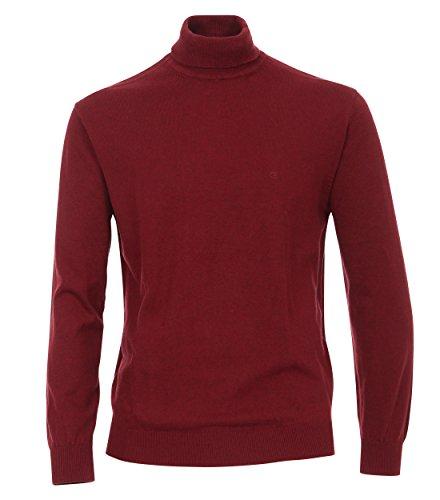 Casa Moda - Herren Rollkragen Pullover (462683700), Größe:XL, Farbe:Rot (427) (Rollkragen-pullover Herren)