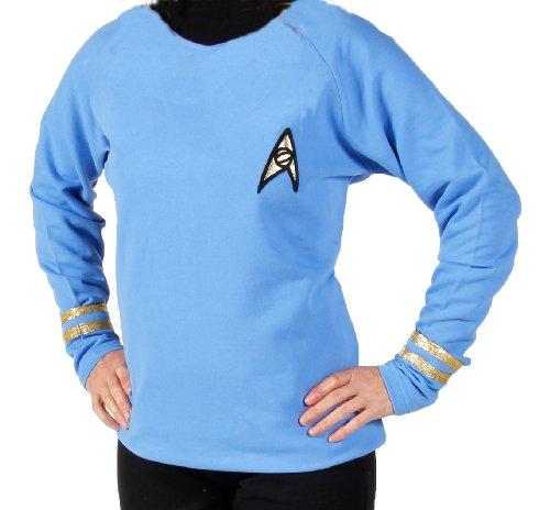erie - Raumschiff Enterprise - Uniform Oberteil + Hose - Blau - Super Deluxe - S (Star Trek Original Serie Kostüme)