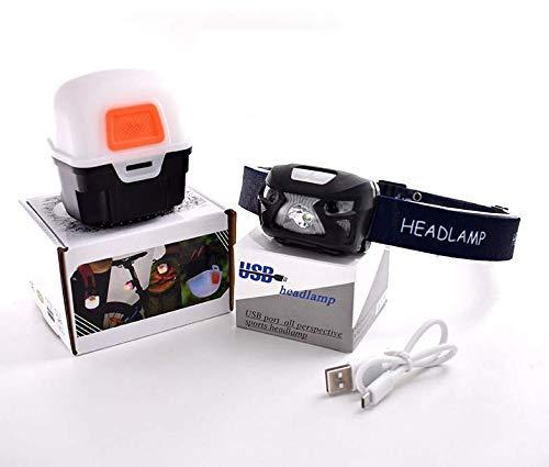 InduktionsköDer Lichter Outdoor-Angeln USB-Ladescheinwerfer Blendung Nachtfischen Camping Lichter,Headlights+magicboxpackage ()