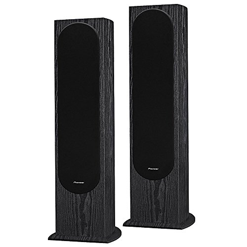 Pioneer FS52 - Andrew Jones Designed Floor Standing Loudspeaker Audio Bundle (Pair)