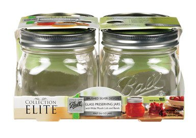 Ball Canning Jar Weithals W/Deckel 4/pkg-pint Ball Canning Jar