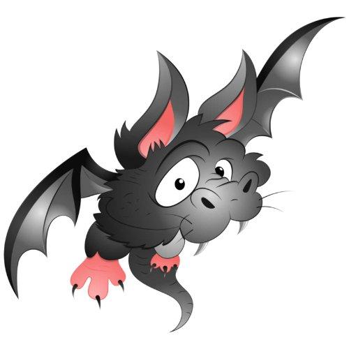 V-T-Shirt - Fledermaus 05 - Halloween - Bat - Damen Weiß