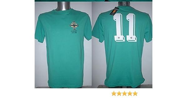 9b4fe427ee Northern Ireland George Best Retro Shirt Jersey BNWT Adult Medium Football  Maglia Toffs Manchester United New: Amazon.co.uk: Sports & Outdoors