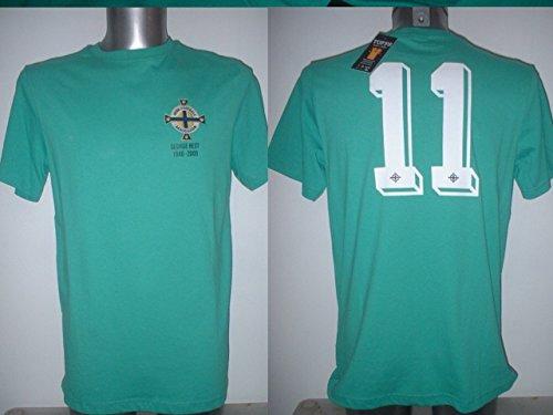 TOFFS Northern Ireland George Best Retro Maglia Adulto Medium Calcio Pullover Maglia Manchester United New
