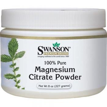 Swanson 100% Pure Magnesium Citrate Powder (227g) by Swanson Health Products