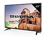 Téléviseur 40 Pouces LED Full HD Smart TD Systems K40DLM8FS. Résolution 1920 x 1080, 3X HDMI, VGA, 2X USB, Smart TV.