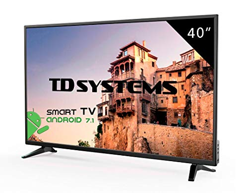Televisor Led 40 Pulgadas Full HD Smart, TD Systems K40DLM8FS. Resolución 1920 x 1080, 3X HDMI, VGA, 2X USB, Smart TV.