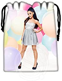 Sky Blue : Best Singer Ariana Grande 02 Drawstring Bags Custom Storage Printed Receive Bag Compression Storage...