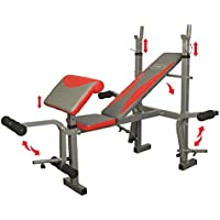 Hms Weight Lifting Bench ls7849, Silver de Black de red, One size, 17 – 3 – 010