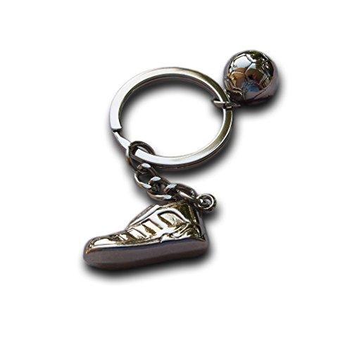 Einzigartige Fußball Schuhe Fußball Ball Edelstahl Metall Schlüsselanhänger Ketten Ring Geschenk