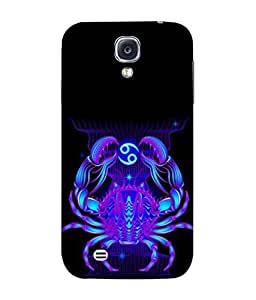PrintVisa Designer Back Case Cover for Samsung Galaxy S4 I9500 :: Samsung I9500 Galaxy S4 :: Samsung I9505 Galaxy S4 :: Samsung Galaxy S4 Value Edition I9515 I9505G (The Crab In Blue Design)