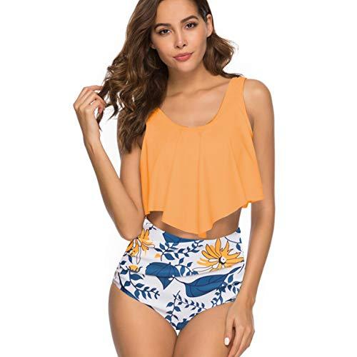 EdBerk74 New Bikini Sports Badeanzug mit großen Ärmeln und hoher Taille Damen Bademode Europäischer und amerikanischer Bikini mit Falten -