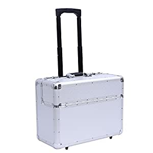 Songmics® aluminium Pilot case trolley valise cabine mallette de pilote JPK88S