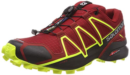 Salomon Herren Speedcross 4 Traillaufschuhe, Rot, 47 1/3 EU