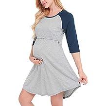 Dromild Vestido de Lactancia para Mujeres Maternidad Lactancia Nocturna Ropa de Dormir