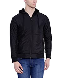 Campus Sutra Men Black Jacket (W16_JK_M_PLN_P13_BL_S)