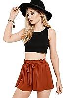 Brand Attic Women's Rust Orange Crepe Tie Shorts From Brand Attic