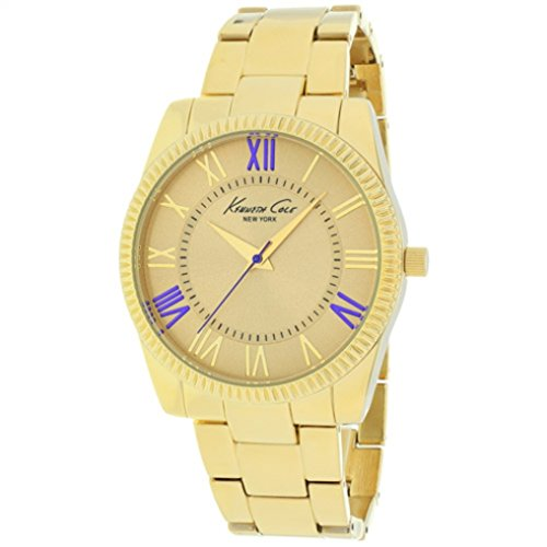 kenneth-cole-new-york-womens-goldtone-with-purple-accent-link-watch