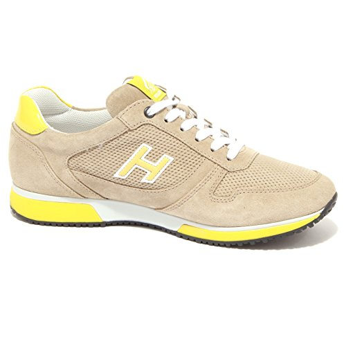 4139Q sneaker uomo HOGAN SLASH beige/giallo suede beige yellow shoe men Beige/Giallo