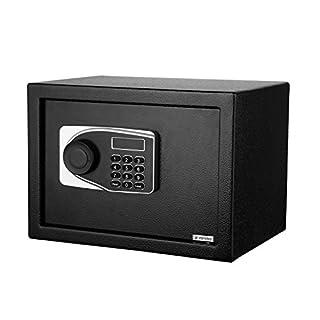 AIMADO Security Safe Möbeltresor Digitaler Safe Tresore Elektronischer sicherer Kasten der Haussicherheits mit LED Schirm und Schlüsseln (Schwarz)