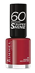 Double Decker Red : Rimmel 60 Seconds Super Shine Nail Polish - 8 ml, Double Decker Red