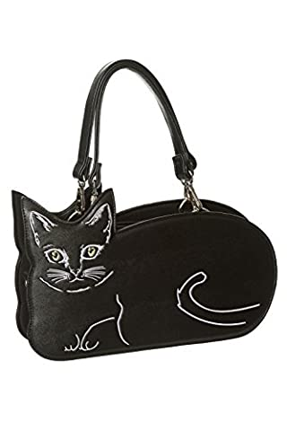 Banned Apparel 'Kitty Kat' Cute Whiskers Handbag Black School Shoulder Bag