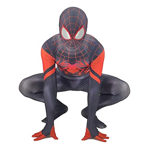 DSFGHE Superheld Spiderman Kostüm Cosplay Heiße Schmerzen Erwachsene Siamesische Strumpfhosen Kostüm Party Performance Dress Up,Child-L (Heiße Superhelden Kostüm)