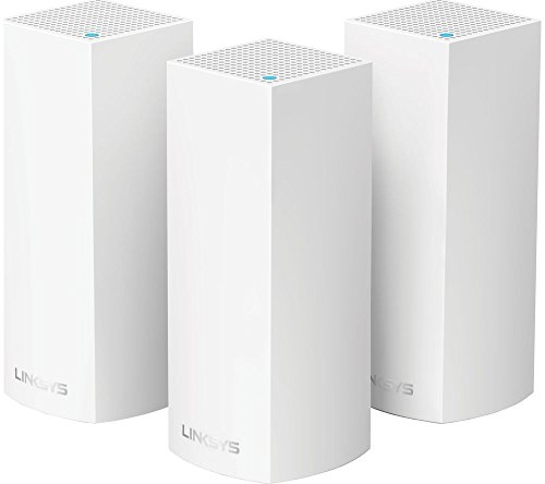 Linksys WHW0303-UK Velop Tri-Band AC6600 Intelligent Whole Home Mesh Wi-Fi System, Works with Alexa, White, Pack of 3