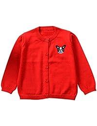 QUICKLYLY Cárdigan Suéter de punto para bebés niña niño Chaquetas y abrigos Ropa de Tejer