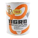 Flüssiger Kunststoff Tiger Tigro weiss 31 seidenmatt 1l