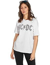 Only Camiseta Manga Corta Blanca AC/DC