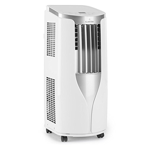 Klarstein New Breeze 7 Aire acondicionado portátil 2,6 kW (Bajo consumo clase A, función ventilador, modo secado, 4 niveles circulación aire, temporizador, refrigerador, mando a distancia, ruedas transporte, blanco)