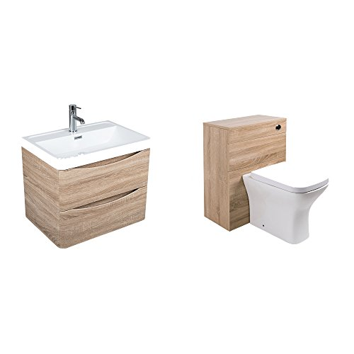 1100mm bathroom vanity unit wall mounted 2 drawer toilet for Small baths 1100